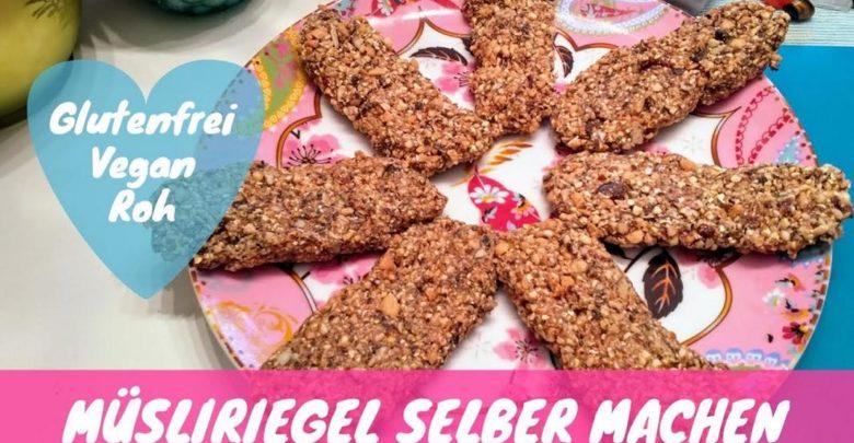 Photo of Vegane Müsliriegel selber machen in Rohkost-Qualität 💖 Mit Video-Anleitung