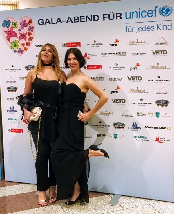 Unicef Gala Köln 2018, Nicoleta Jutka, Klaudija Paunovic