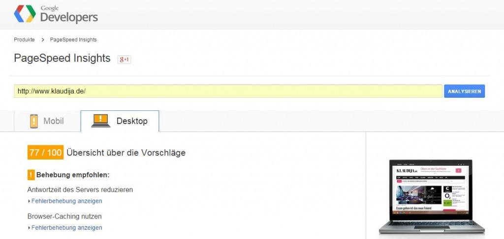 PageSpeed steigern