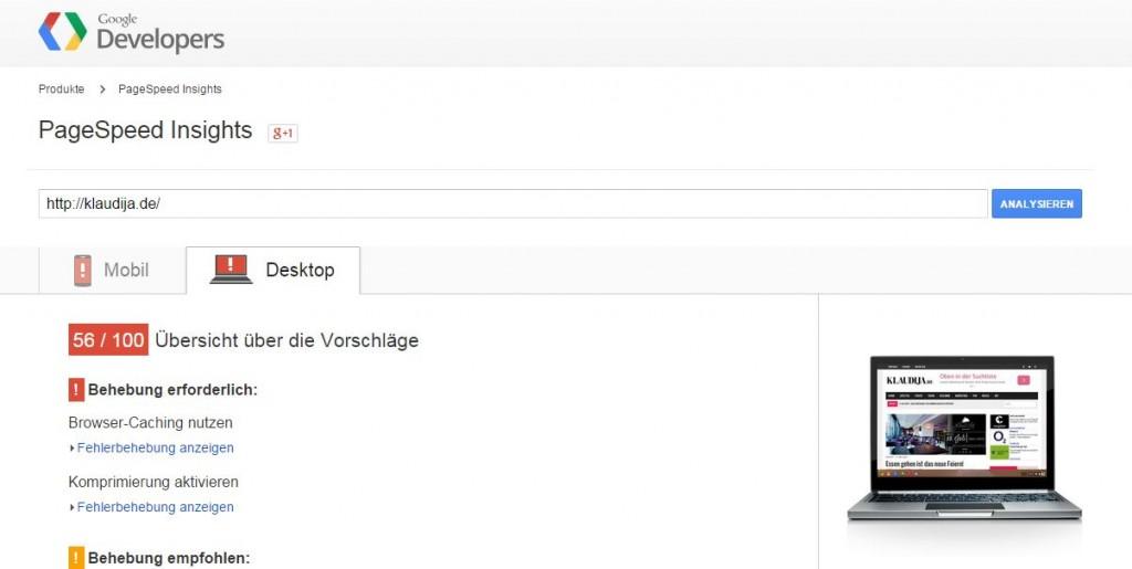 PageSpeed testen
