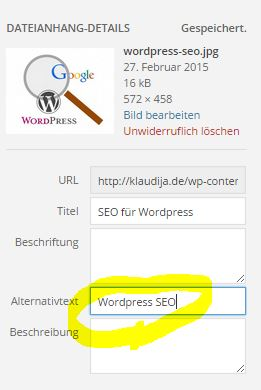 Alt Tag WordPress