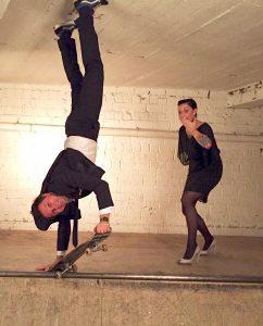 Skate aid night André Gatzke mit Lina van de Mars