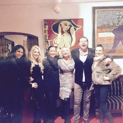 Model Josye Santos, Schauspielerin Manuela Jansen, Melanie Tollmann, Sylvia Becko, Markus Tollmann und ich.