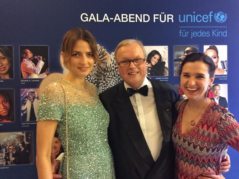 Unicef Gala Neuss 2017, Eva Padberg, Heribert Klein, Klaudija Paunovic