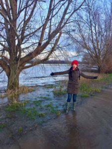 Wildtiere retten am Rhein vor Hochwasser, Klaudija Paunovic