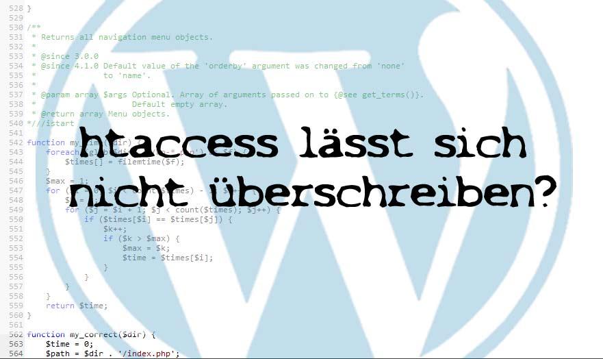 Photo of WordPress Problem: htaccess wird ständig falsch erneuert auf dem Server